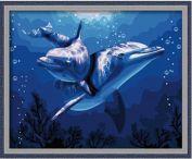 """Раскраска по номерам """"Дельфины"""""""
