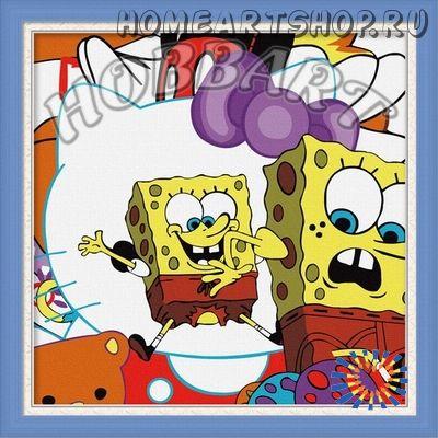 "Раскраска по номерам ""Губка Боб. Sponge Bob"""