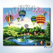"""Картина по номерам """"Фестиваль воздушных шаров"""""""
