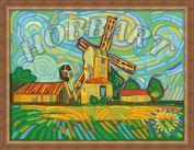 """Картина по номерам """"Разноцветная мельница"""""""
