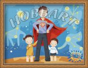 "Картина по номерам ""Мой папа - супермен"""