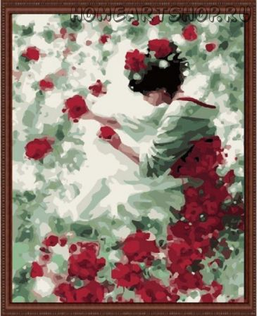 """Раскраска по номерам """"Фея роз"""""""