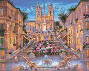 """Раскраска по номерам """"Испанская лестница в цвету"""""""