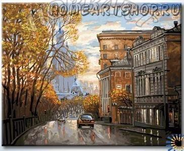 """Раскраска по номерам """"По улицам Москвы"""""""