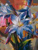 """Раскраска по номерам """"Ослепительные цветы"""""""