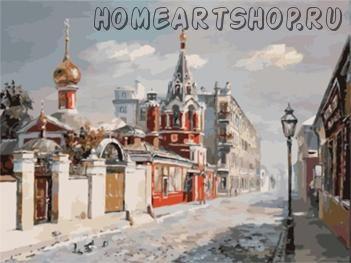 """Раскраска по номерам """"Улочки Москвы"""""""