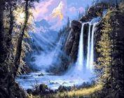 """Раскраска по номерам """"Дикий водопад"""""""