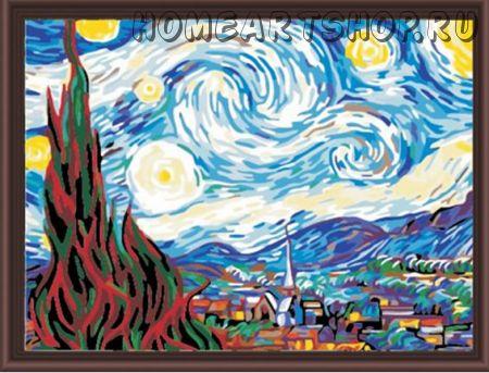 "Раскраска по номерам ""Звездная ночь ,Ван Гог"" 40х50"