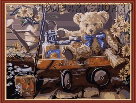 """Раскраска по номерам """"Медвежонок Тедди"""" 40х50"""
