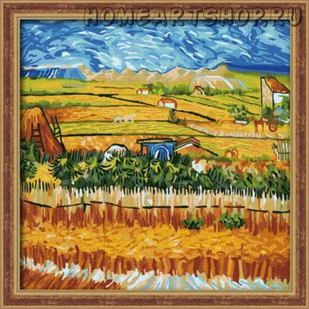 """Раскраска по номерам """"Ван Гог. Пейзаж с голубой повозкой"""""""