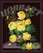 """Раскраска по номерам """"Желтые розы"""" 40х50"""