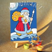 "Картина по номерам ""Дед Мороз"""
